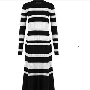 PROENZA SCHOULER | STRIPE RIB KNIT MIDI DRESS S/6